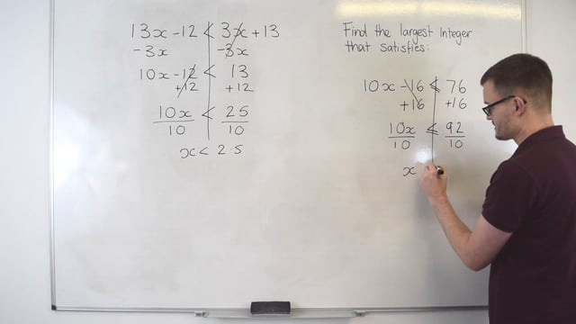 Solving inequalities with one sign