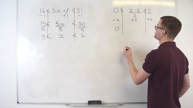 Solving inequalities with two signs