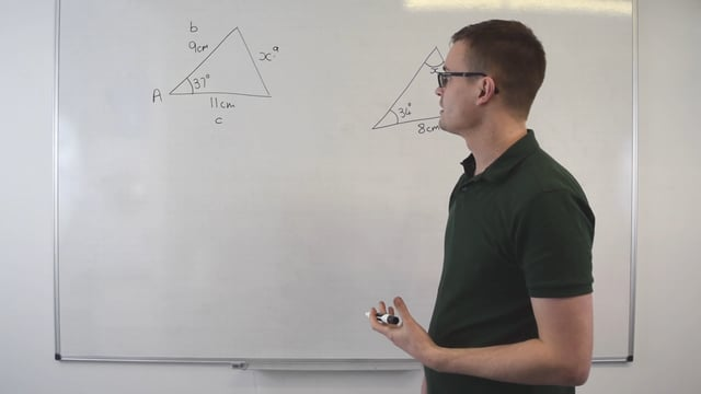 Recognising when to use sine and cosine rule
