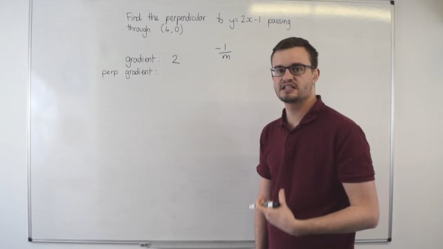 Equation of a perpendicular line