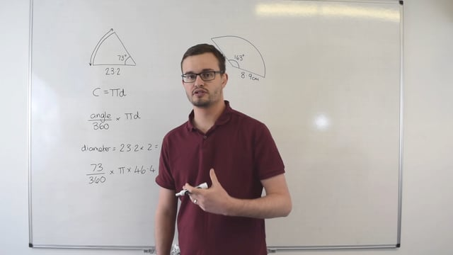 Finding the arc length of a sector